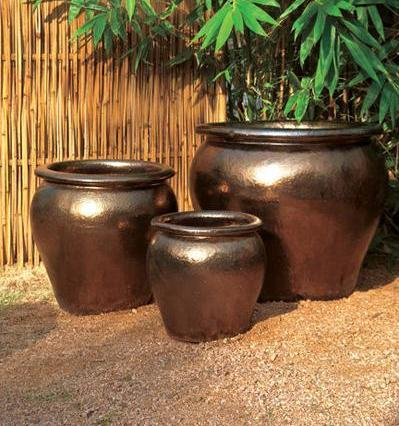 Bronze Classic Planter with Rim