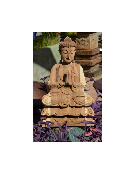 Hand Carved Sitting Buddha-Large