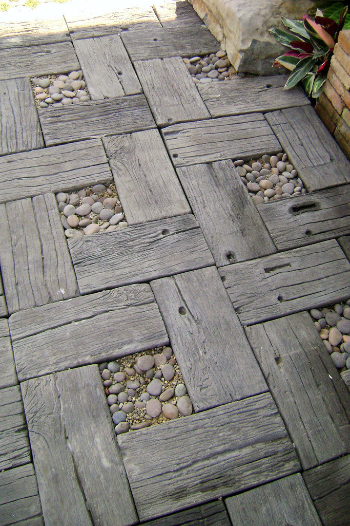 ... unstained Wood Grain Concrete Pavers unstained & Wood Grain Concrete Pavers unstained u2013 Big Grass