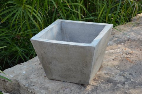 Cement Square Tapered Planter