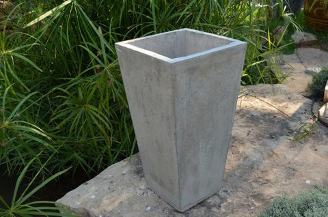 Slim Square Tapered Cement Planter