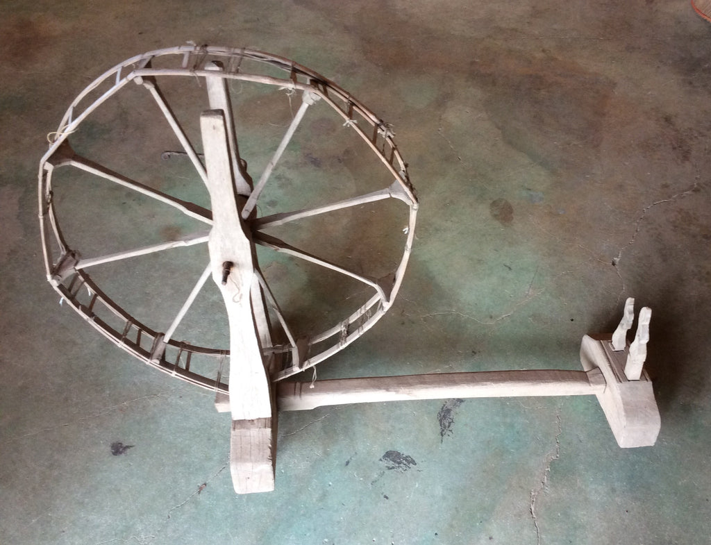 Antique Bamboo Spinning Wheel