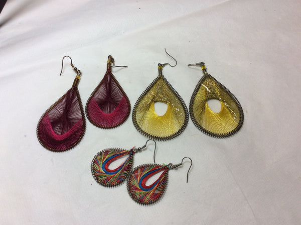 Tear Drop Woven Earrings