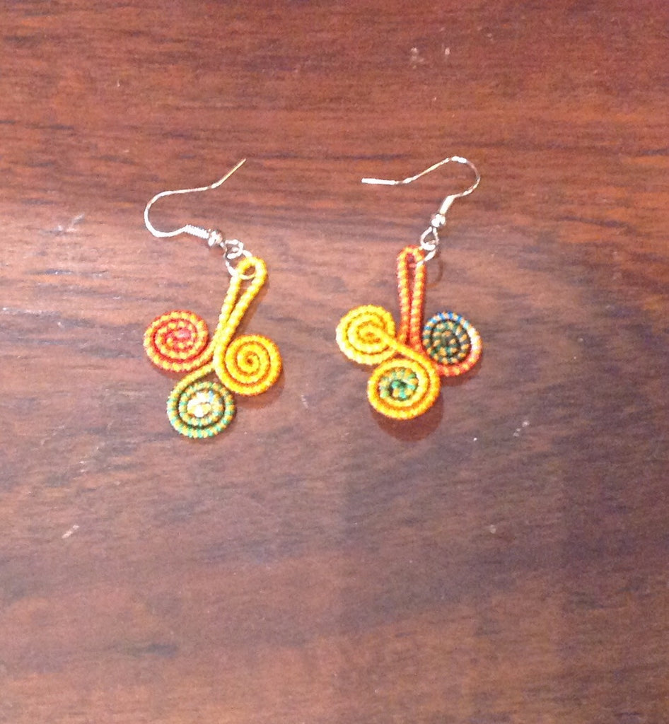 Threaded Swirl Earrings