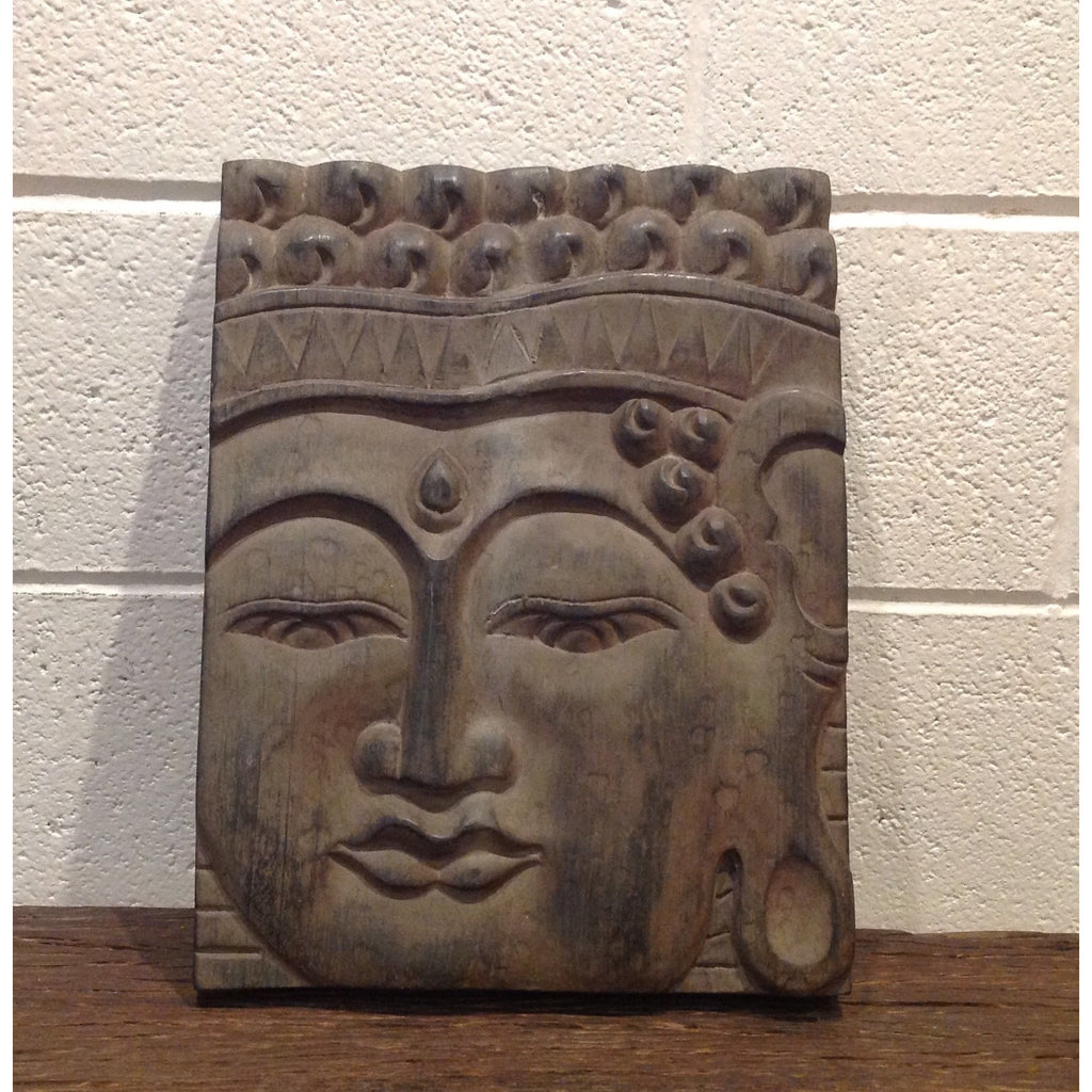 "Wood Buddha Panel 12""x 16"""