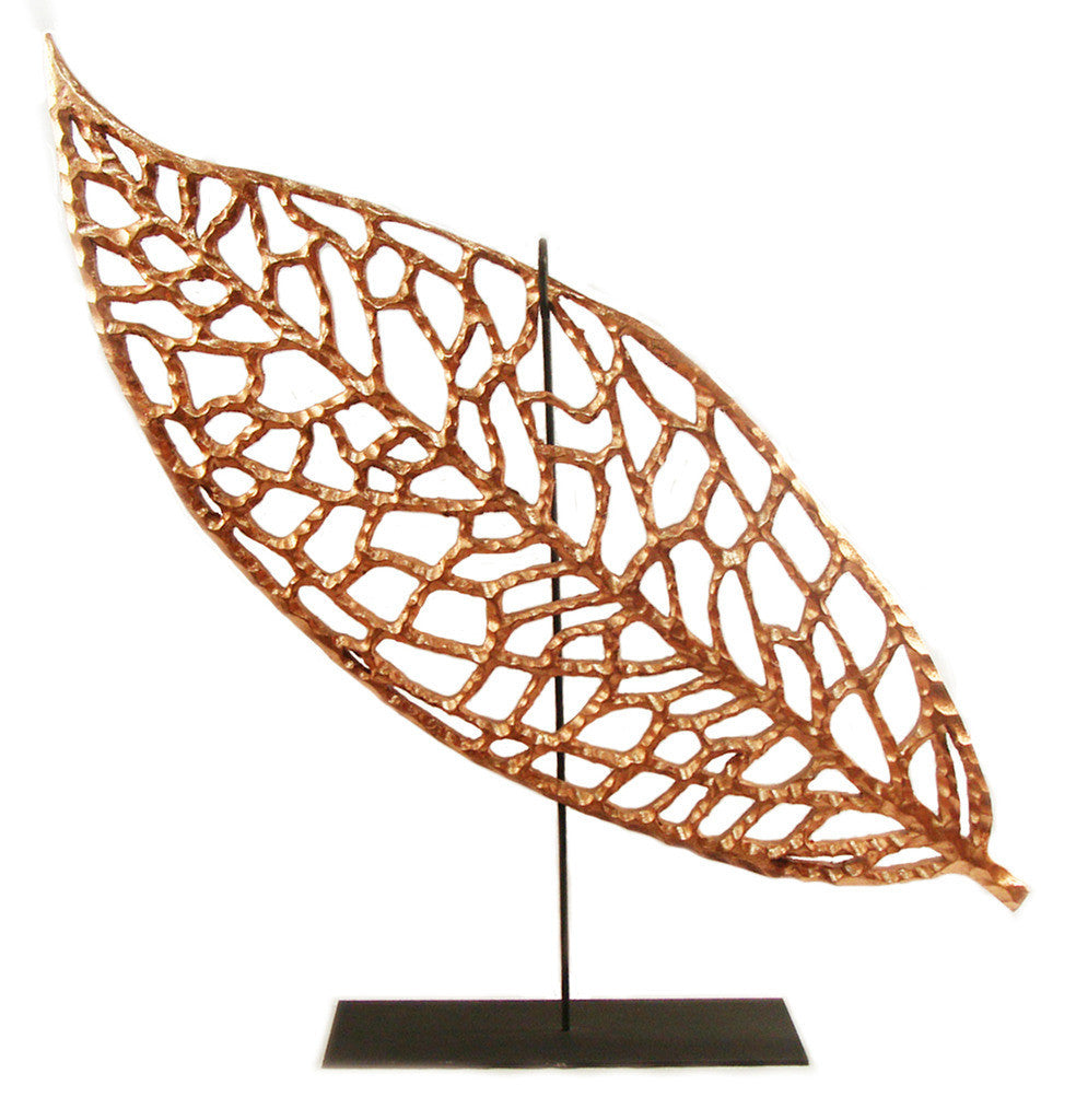 Copper Leaf on Stand