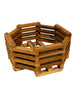 "8"" Octagonal Teakwood Baskets: 10 pcs/unit. Unit Price: $52.50"