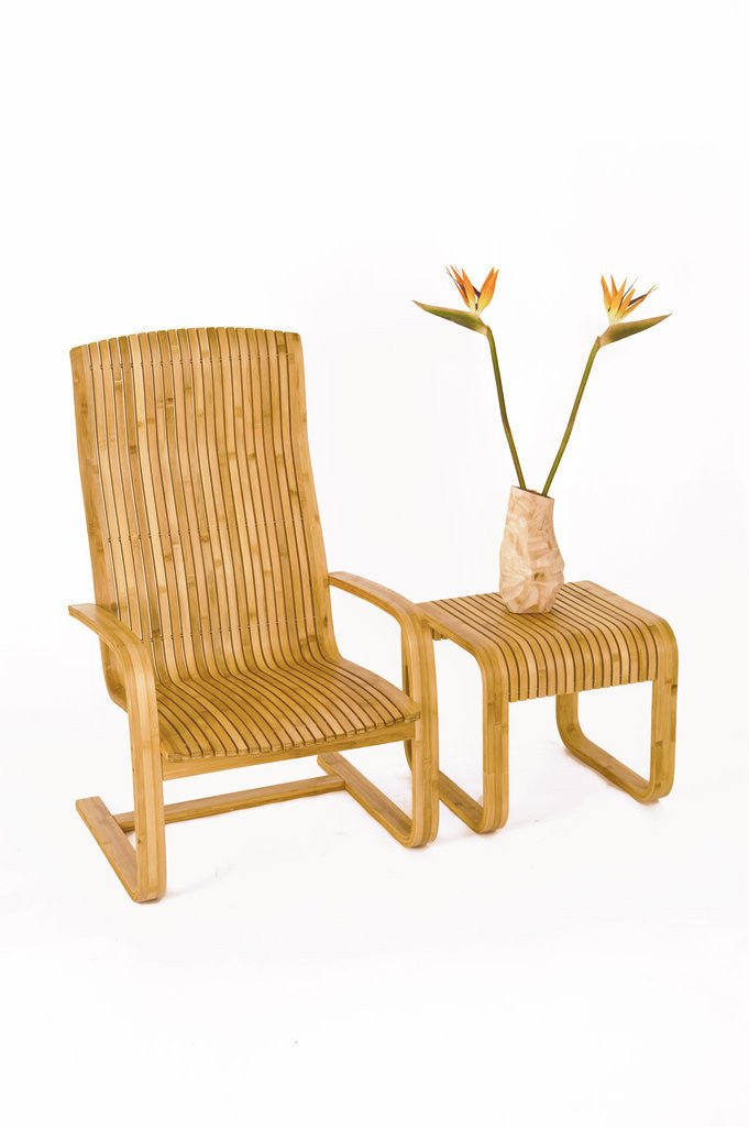 Loi High-Back Bamboo Chair