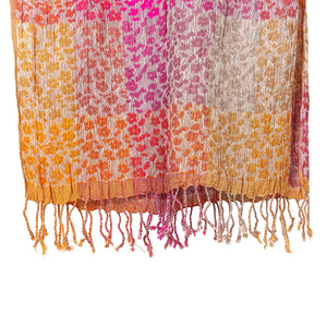 Handwoven Crinkled Silk Scarf