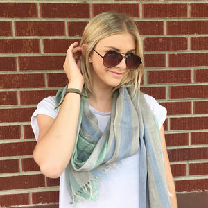 Handwoven Linen Cotton Scarf