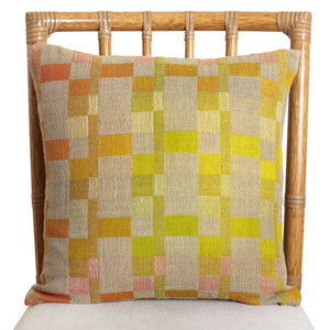Handwoven Wool Silk Fabric Pillow