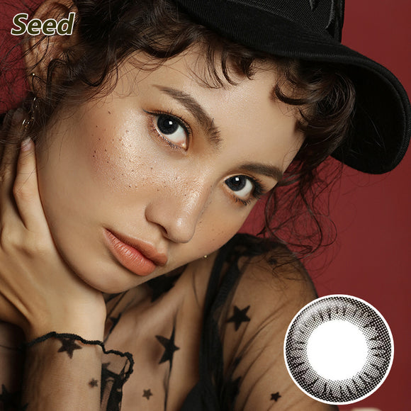 Japan Seed mixed blood size diameter Coffret disposable daily color contact lenses Black