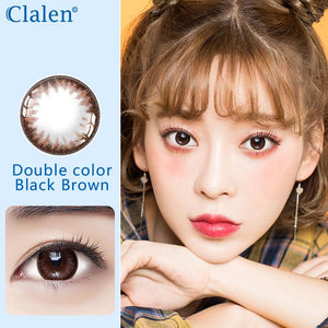 Korea girl style clalen iris disposable daily colored contact lenses 30pcs Black Brown