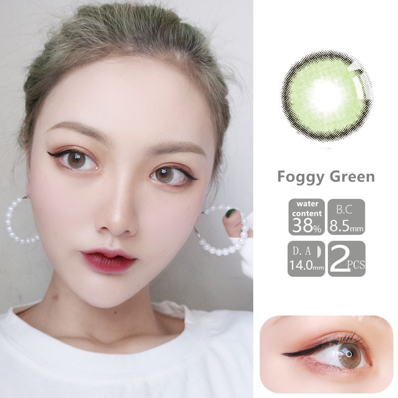 MiaoMou yearly Contact Lenses Foggy Greenn (2pcs/box)