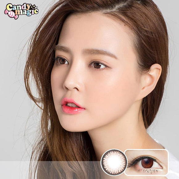Japan girlie style  Japan candymagic disposable daily colored contact lenses 10 pcs packing Sugar Brown