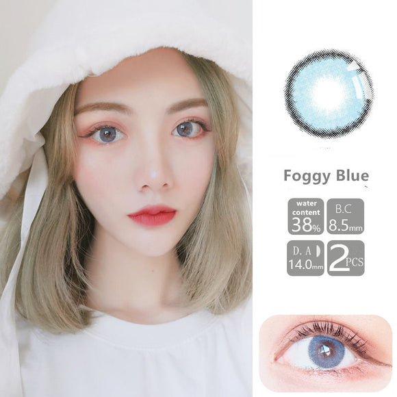 VISSMON yearly Contact Lenses Foggy Blue (2pcs/box)