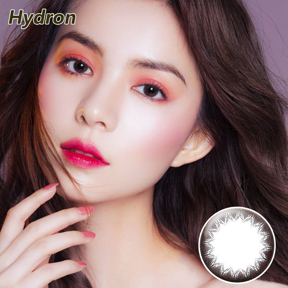 Hydron one piece sweetheart Brownie mixed blood size diameter disposable half yearly color contact lenses Mocha Brown Cheese Gray
