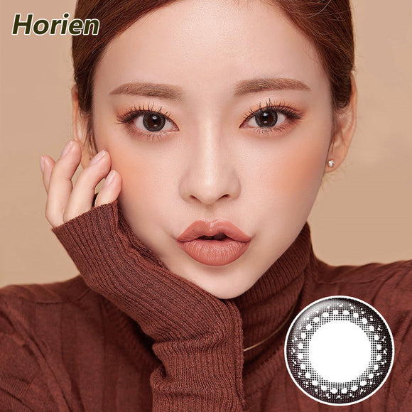 Horien Hitomi moist and comfortable disposable daily color contact lenses Vibrant Black