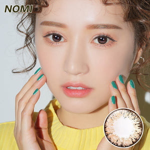 Korea NOMI mixed blood size diameter  mermaid disposable half yearly color contact lenses with degree Blooms4U Ice Flower Chocolate