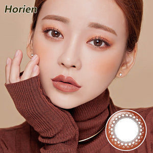 Horien Hitomi moist and comfortable disposable daily color contact lenses Gentle Brown