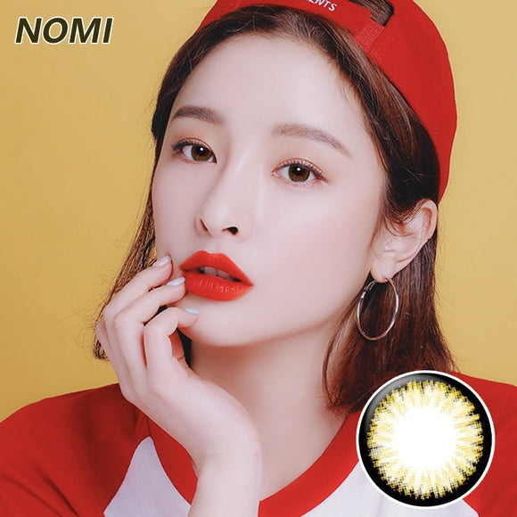 Korea NOMI mixed blood size diameter  disposable yearly color contact lenses Blooms2U Black