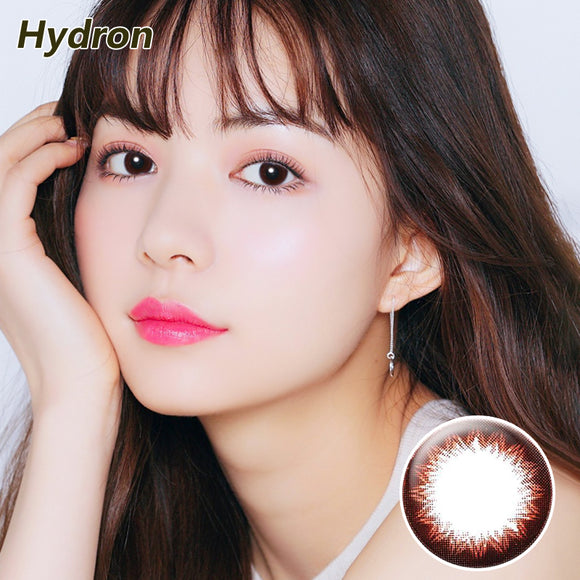 Hydron one piece sweetheart Brownie mixed blood size diameter disposable half yearly color contact lenses Mocha Brown