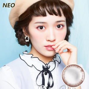 Korea imported Neo Vision mixed blood size diameter small black ring disposable yearly color contact lenses Chocolate Color Generation