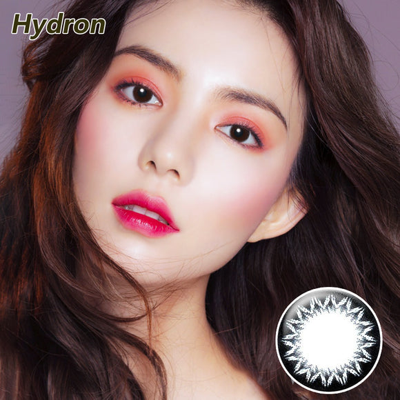 Hydron one piece sweetheart Brownie mixed blood size diameter disposable half yearly color contact lenses Cookie Black