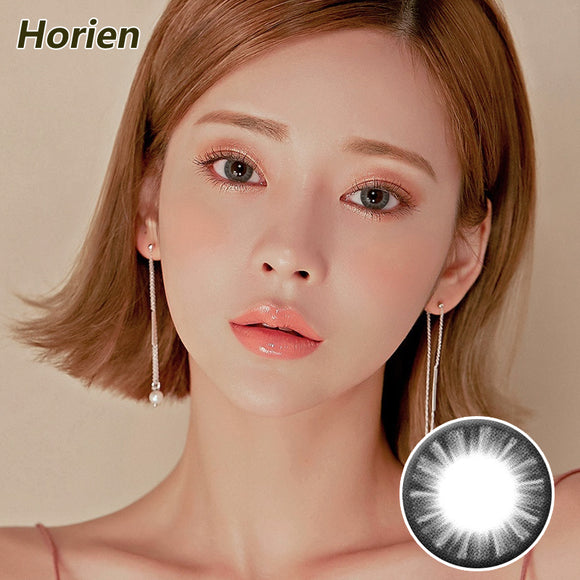 Horien Beloved eyes mixed blood size diameter disposable daily color contact lenses Elegant Gray