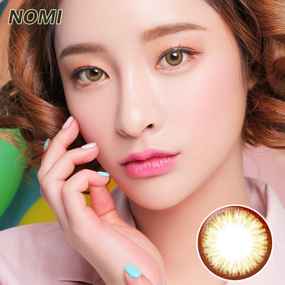 Korea NOMI mixed blood size diameter  mermaid disposable half yearly color contact lenses with degree Blooms2U Chocolate