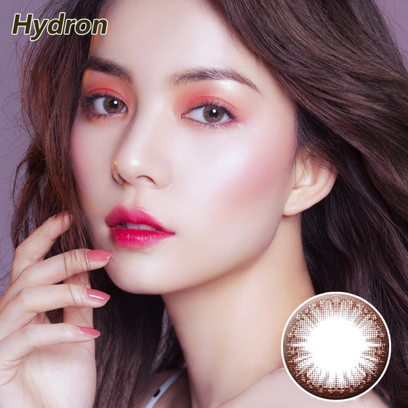 HYDRON large diameter star moving lace disposable half yearly color contact lense Star Moving Brown