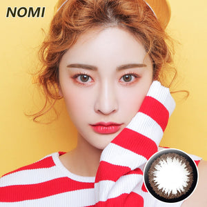 Korea NOMI mixed blood size diameter  mermaid disposable half yearly color contact lenses with degree Blingbling Brown