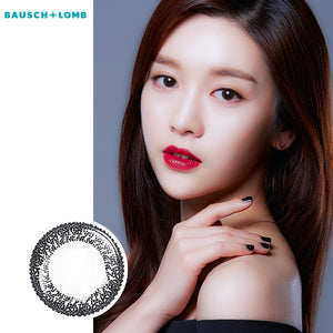 Bausch & Lomb Lacelle disposable bi-weekly color contact lenses Cute Crystal Gray(six lense per box)
