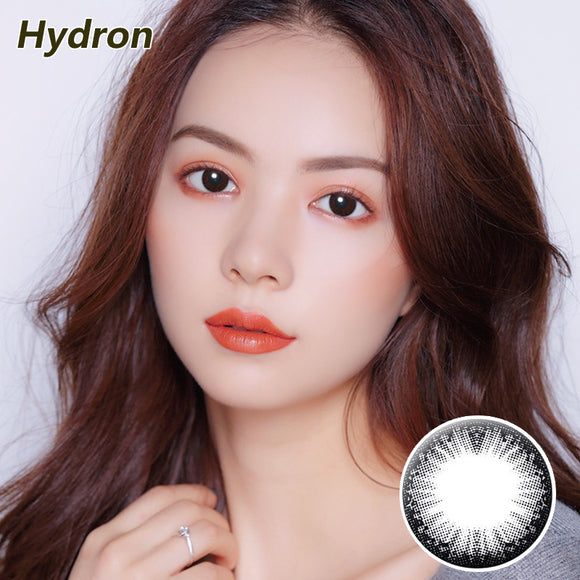 HYDRON large diameter star moving lace disposable half yearly color contact lense Star Moving Black