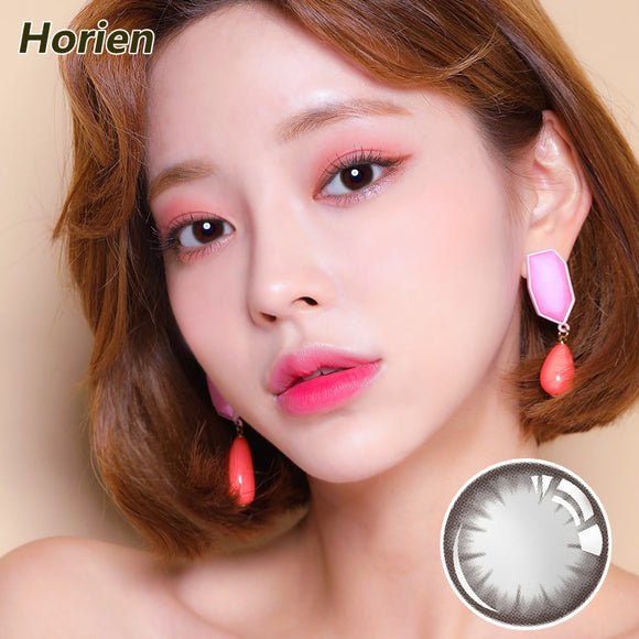 Horien Beloved eyes disposable quarterly color contact lenses Soft Brown