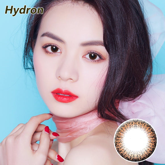 HYDRON large diameter star moving lace disposable half yearly color contact lense Lace Brown