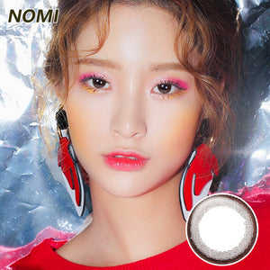 Korea NOMI mixed blood size diameter disposable yearly color contact lenses  Bonbons Small Chocolate Ring