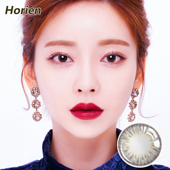 Horien Beloved eyes disposable quarterly color contact lenses Glod shine Brown
