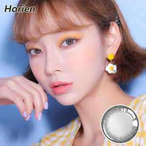 Horien Beloved eyes disposable quarterly color contact lenses Fresh Black