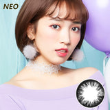 Korea imported Neo Vision mixed blood size diameter small black ring disposable yearly color contact lenses Black NC018