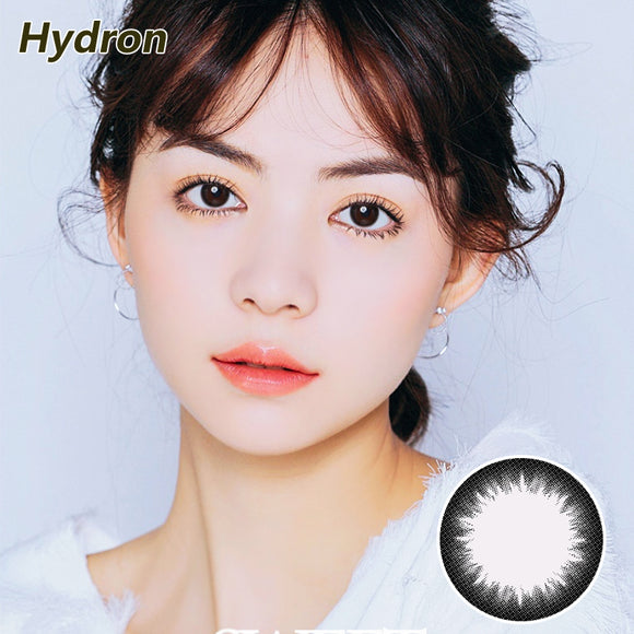 Hydron impress me size diameter  disposable daily color contact lenses Elegant Black