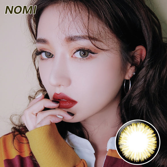 Korea NOMI mixed blood size diameter  mermaid disposable half yearly color contact lenses with degree Blooms2U Black