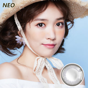 Korea imported Neo Vision mixed blood size diameter small black ring disposable yearly color contact lenses Small Gray Ring