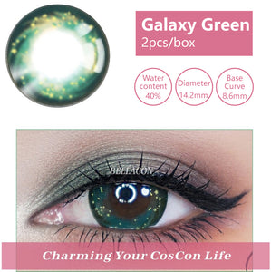 Bella Yearly Color Contacts Galaxy Green (2pcs/box)
