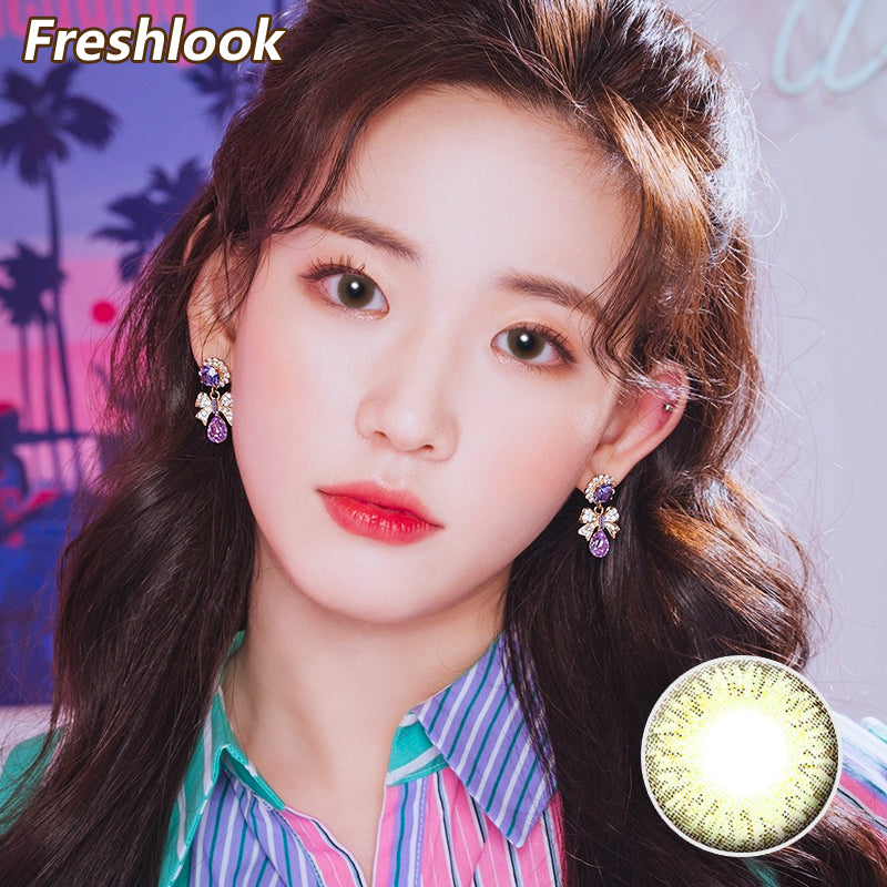 Freshlook Illuminate small diameter 13.8mm disposable daily color contact lenses Green