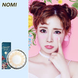 Korea NOMI mixed blood size diameter disposable yearly color contact lenses Gossip4U Angle Tricolor Grey