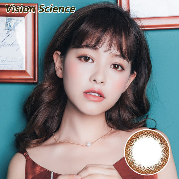 Korea Vision Science size diameter disposable daily color contact lenses Sweet Chocolate