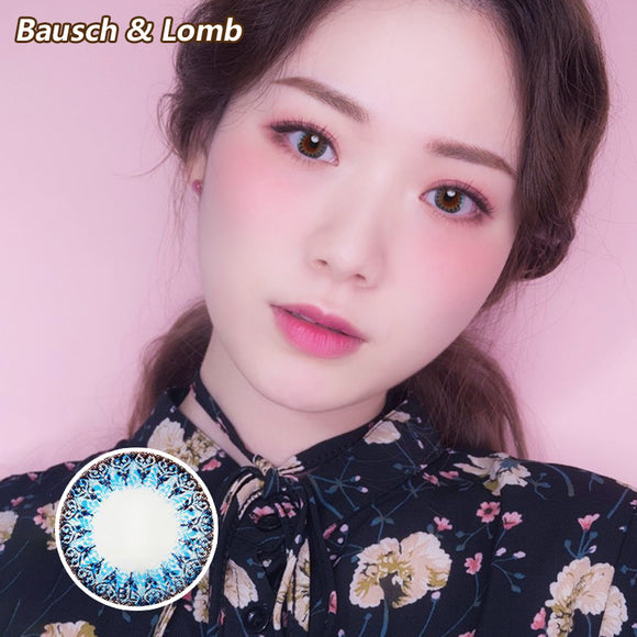 Bausch & Lomb one piece mixed blood small diameter disposable half yearly color contact lenses Blue