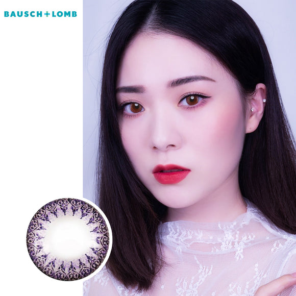 Bausch & Lomb one piece mixed blood small diameter disposable half yearly color contact lenses Purple