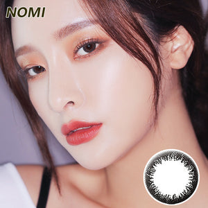 Korea NOMI mixed blood size diameter  mermaid disposable half yearly color contact lenses  Bonbons2u Black